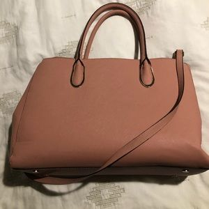 H & M blush pink Professional career bag satchel